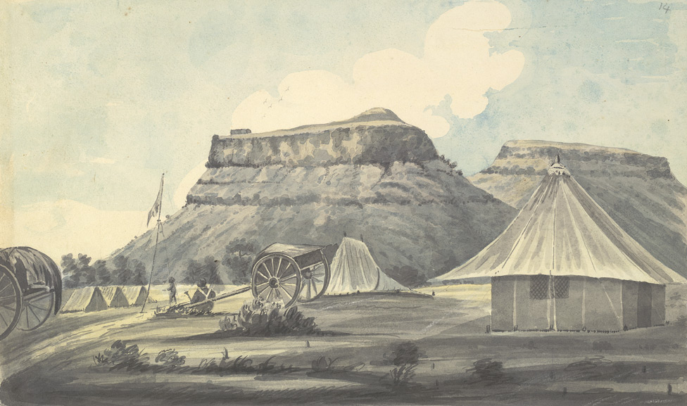 f.14   European military encampment.